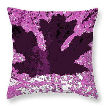 Maple Leaf Purple Pop Poster Hues  Throw Pillow