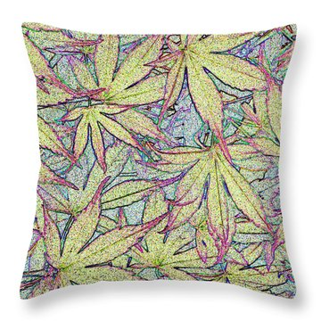 Maple Leaves No.1 Throw Pillow