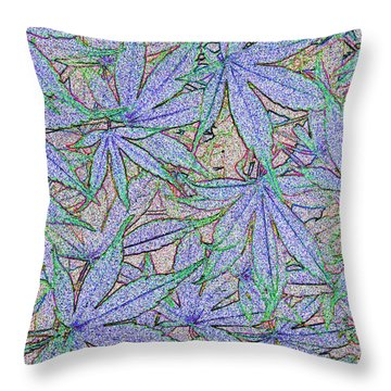 Maple Leaves No.2 Throw Pillow