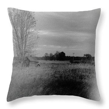 Throw Pillow featuring the photograph Maple Ridge Rd Farm by Daniel Thompson