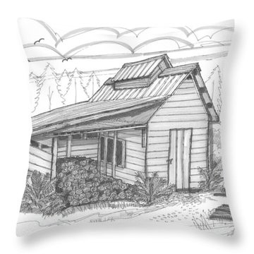 Maple Sugar House Throw Pillow