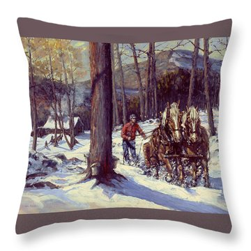 Maple Sugar Time Throw Pillow