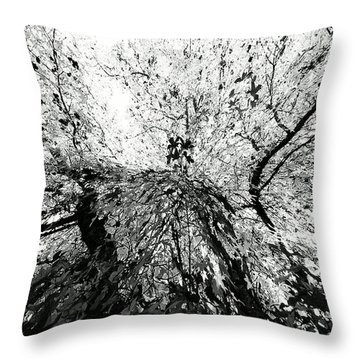 Maple Tree Inkblot Throw Pillow by CML Brown