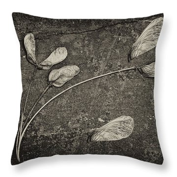 Maple Tree Whirlybirds Throw Pillow by Tom Mc Nemar