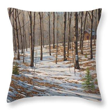 Maple Woods Throw Pillow