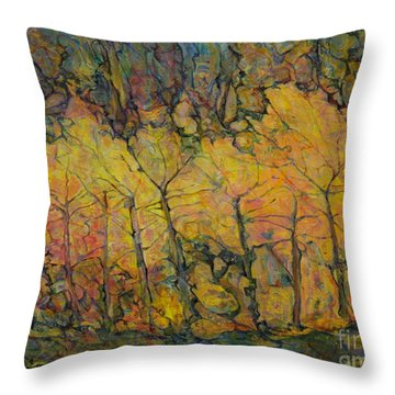Maples Throw Pillow