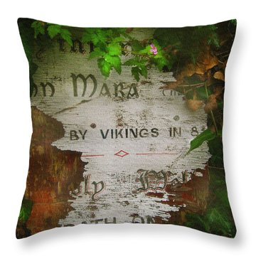 Throw Pillow featuring the photograph Mara by Kandy Hurley