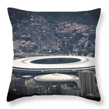 Throw Pillow featuring the photograph Maracana by Zinvolle Art