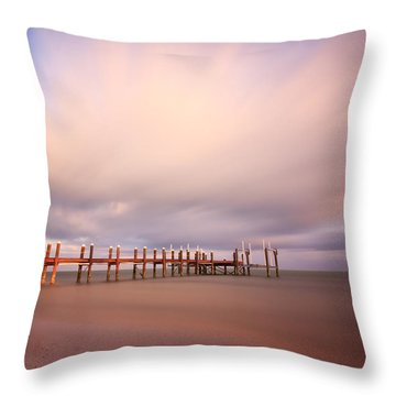 Marathon Key Long Exposure Throw Pillow by Adam Romanowicz