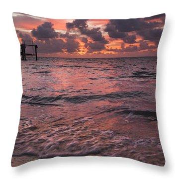 Marathon Key Sunrise Panoramic Throw Pillow by Adam Romanowicz