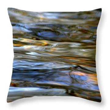 Marbeled Movement Throw Pillow by Neal Eslinger