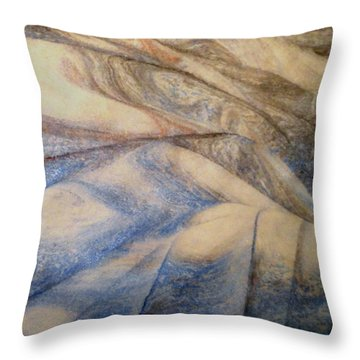 Marble 12 Throw Pillow by Mike Breau