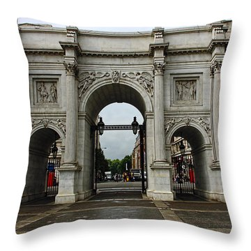 Marble Arch Throw Pillow by Nicky Jameson