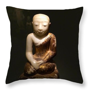 Buddhist Figure   Throw Pillow