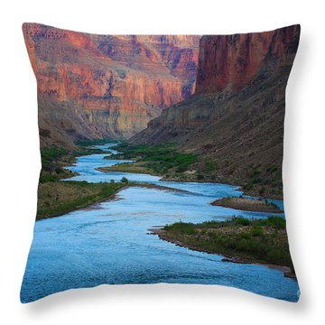 Marble Canyon Rafters Throw Pillow by Inge Johnsson