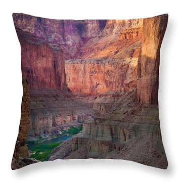 Marble Cliffs Throw Pillow by Inge Johnsson