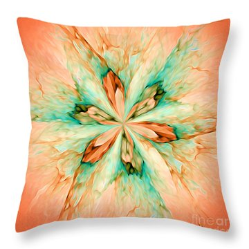 Throw Pillow featuring the digital art Marble Flower - Optimistic Art By Giada Rossi by Giada Rossi