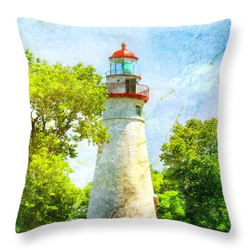 Marble Headlight Throw Pillow