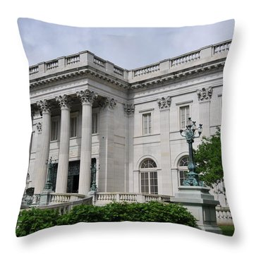 Marble House  --  Newport Rhode Island  Throw Pillow