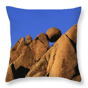 Marble Rock Formation Pano Throw Pillow