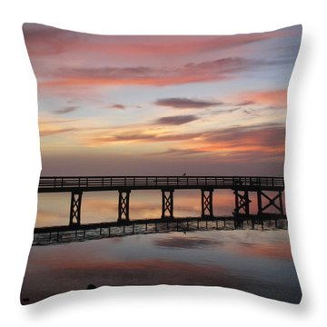 Marbled Pier Throw Pillow