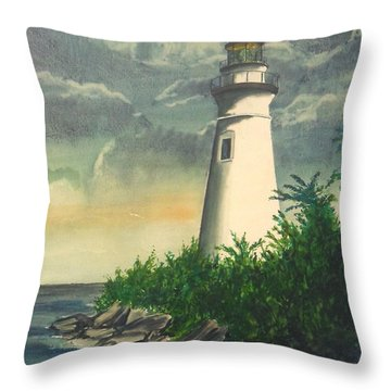Marblehead Light On Lake Erie Throw Pillow