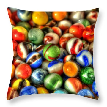 Marbles 1 Throw Pillow