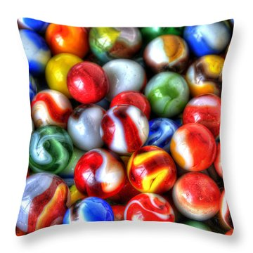 Marbles 2 Throw Pillow