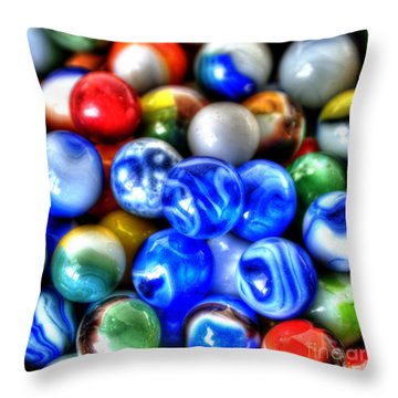 Marbles 3 Throw Pillow