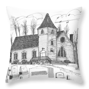 Marbletown Church Throw Pillow