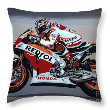 Marc Marquez Throw Pillow