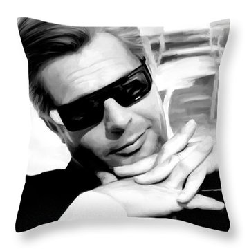 Marcello Mastroianni Portrait Throw Pillow