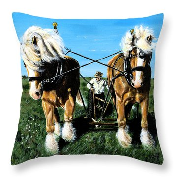 Throw Pillow featuring the painting March Break by Ron Haist