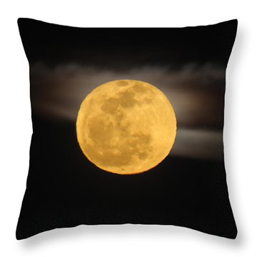 March Full Moon Throw Pillow