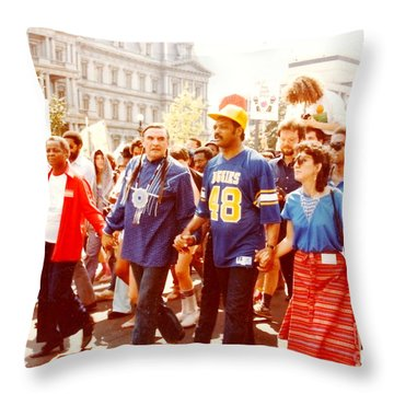 March In D . C . Throw Pillow by Jesse Ciazza
