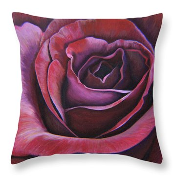 Throw Pillow featuring the painting March Rose by Thu Nguyen