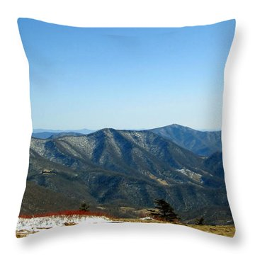 March Snow In The Mountains Throw Pillow