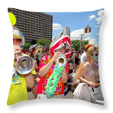 Throw Pillow featuring the photograph Marching Band by Ed Weidman