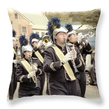 Marching Band - Shepherd University Ram Band At Homecoming 2012 Throw Pillow