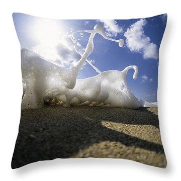 Marching Foam Throw Pillow by Sean Davey