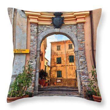 Marciana - Ancient Gate Throw Pillow