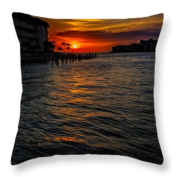 Marco Island Sunset 43 Throw Pillow by Mark Myhaver