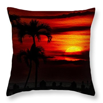 Marco Island Sunset 59 Throw Pillow by Mark Myhaver