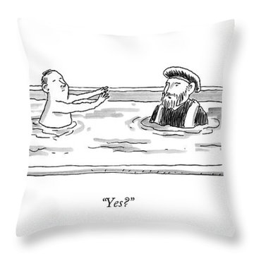 Marco Polo In A Pool With A Man Playing Marco Polo Throw Pillow