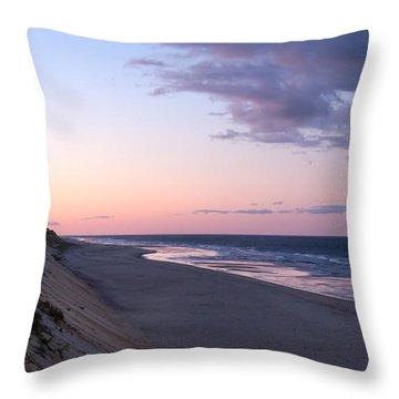 Marconi Beach At Dusk Throw Pillow