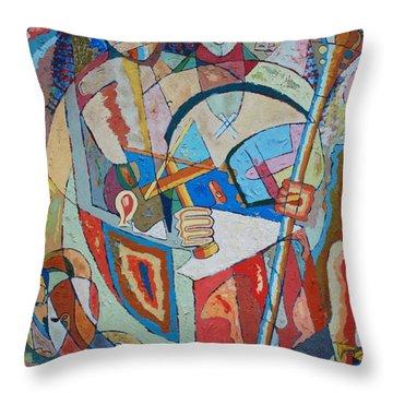 Marcus Garvey And Elders Throw Pillow by John Powell