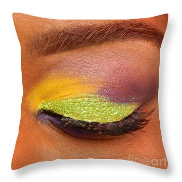 Mardi Gras 2014 Eye See Colors Of Mardi Gras Throw Pillow by Michael Hoard