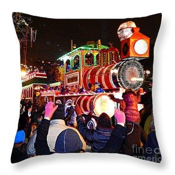 New Orleans Mardi Gras 2014 Orpheus Super Float Smokey Mary Throw Pillow