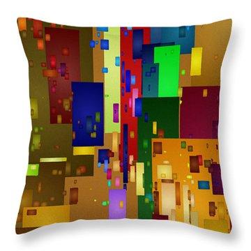 Mardi Gras Throw Pillow by David Hansen