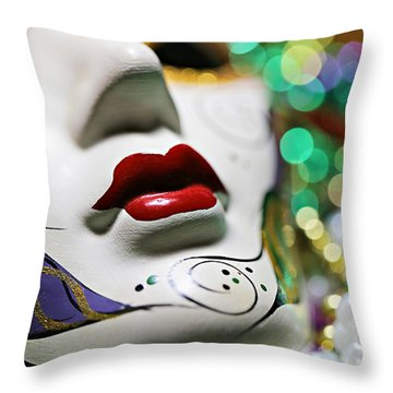 Mardi Gras II Throw Pillow